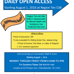 RT Open access flyer